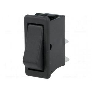 Kolébkový vypínač 1-polohové SPST (ON)-OFF 16A/250VAC černý 2 polohy