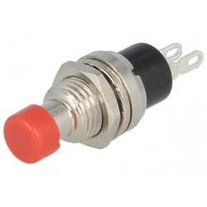 Přepínač tlačítkový bez aretace barva hmatníku červená