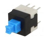 Mikrospínač 2 polohy DPDT 0,1A/30VDC THT 1,6N 8x8mm 13,5mm