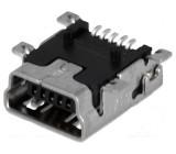 Zásuvka USB B mini na PCB SMT PIN:5 vodorovné Balení: blistr