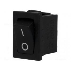 Kolébkový spínač miniaturní 1x spín. ON-OFF 6A černý