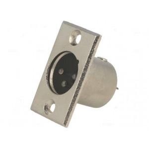 Zásuvka XLR vidlice 3 PINpájení upevnění 3mm průměr 19mm