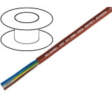 Kabel SiHF CU licna 4x0,5mm2 silikonový kaučuk hnědo-červená