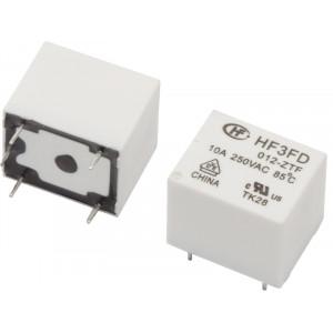 HF3FD/012-ZTF Relé elektromagnetické SPDT Ucívky:12VDC 10A/250VAC 10A