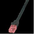 Patch kabel U/UTP 6 propojení 1:1 licna Cu LSZH černá 10m
