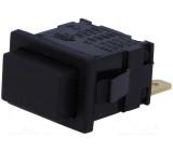 Tlačítkový spínač hranatý 1x spín. ON-OFF černý