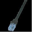 Patch cord U/UTP 6 licna CCA PVC černá 500mm 26AWG