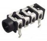 Zásuvka Jack 3,5 mm zásuvka póly:4 THT W:6mm H:6mm D:17,2mm