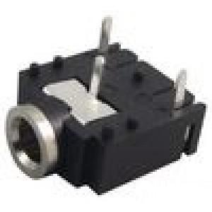 Zásuvka Jack 3,5 mm zásuvka stereo Poč.výv:3 na plošný spoj