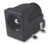 Zásuvka napájecí DC vidlice 5,5mm 2,1mm úhlový s vypínačem