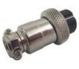 Zástrčka mikrofonní zásuvka 4PIN přímý na kabel 6mm