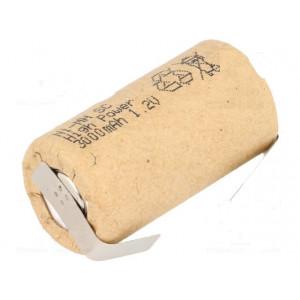 Akum: Ni-MH SubC 1,2V 3000mAh Výv: pájecí očka Ø22x44mm