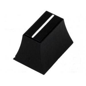 Knoflík - jezdec barva černá 20x14x13mm Mat plast