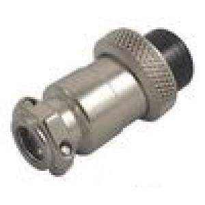 Zástrčka mikrofonní zásuvka 2PIN přímý na kabel 6mm