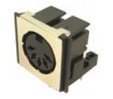 Zásuvka DIN zásuvka stíněný 5 PIN vývody 180° THT