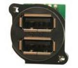 Zásuvka USB A do panelu, přišroubováním kolíková lišta