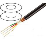 Vodič: mikrofonní 4x0,22mm2 černá OFC PVC -15÷70°C Ø5,5mm