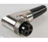 Zástrčka mikrofonní zásuvka 4PIN úhlový na kabel 6mm