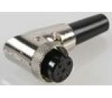 Zástrčka mikrofonní zásuvka 6PIN úhlový na kabel 6mm