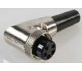 Zástrčka mikrofonní zásuvka 5PIN úhlový na kabel 6mm