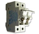 Pouzdro trubičkové pojistky 10x38mm na DIN lištu 30A UL94V-2