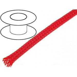 Opletení polyester 3-7,nom.4mm červená -50-150°C