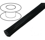 Opletení polyester 7-13,nom.8mm černá -50-150°C