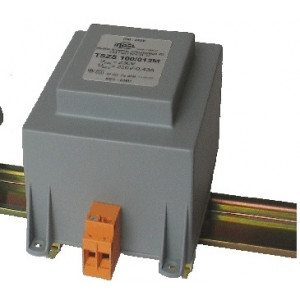 Transformátor zalévaný 100VA 230VAC 24V 4,16A na DIN lištu