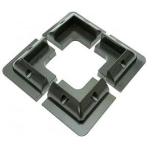 Držák pro fotovoltaický panel rohový - balení 4ks, černý