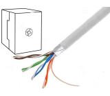 Kabel F/UTP 5e drát CCA 4x2x0,5mm PVC šedá