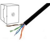 Kabel U/UTP 5e externí drát CCA 4x2x0,5mm PE černá