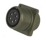 Konektor vojenský Řada DS/MS zásuvka zásuvka PIN:6 stříbřený