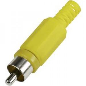 Zástrčka RCA vidlice s ochranou kabelu přímý pájení
