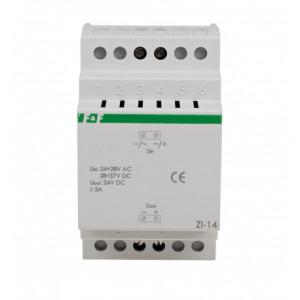 Stabilizovaný napájecí zdroj 24VDC 3A 24÷28VAC 150g