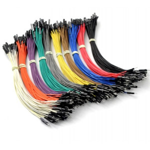 Propojovací kabel pro nepájivé pole nebo ARDUINO zelený samec - samice 20cm