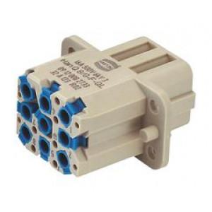 Konektor: hranatý zásuvka Han Q PIN:8 Compact