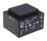 Transformátor: zalévaný 4,5VA 230VAC 6V 750mA Montáž: PCB 150g