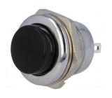 Tlačítko spínací OFF-(ON) černý kovový