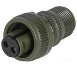 Konektor vojenský Řada DS/MS zástrčka zásuvka PIN:2 na kabel