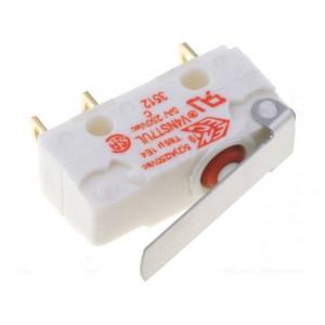 Mikrospínač SNAP ACTION s páčkou SPDT 5A/250VAC ON-(ON) IP67