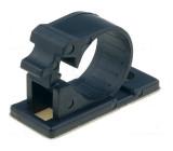 Samolepící držák na přišroubování 15mm polyamid černá