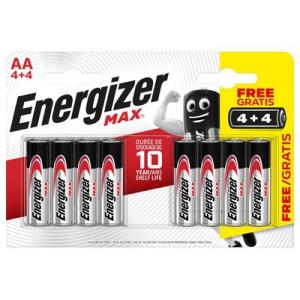 Alkalická baterie AA R6 Energizer MAX balení 8ks