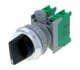Přepínač: otočný 3 polohy NO x2 3A/230VAC 22mm černá IP65