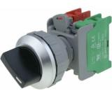 Přepínač otočný 2 polohy NC + NO 30mm černá IP65 -20÷60°C