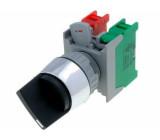 Přepínač: otočný 2 polohy NC + NO 3A/230VAC 22mm černá IP65