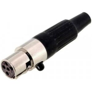 Zástrčka XLR mini zásuvka 5 PIN na kabel pájení přímý