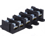 Svorkovnice póly:5 šroubová svorka 1,5-4mm2 černá 380V