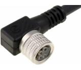 Připojovací kabel M8 PIN:4 úhlový 5m zástrčka 60VAC 4A IP68