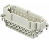 Konektor HAN vidlice E 16 PIN 16+PE velikost 32B (2 x 16B)