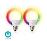 Chytré WiFi LED Žárovky | Barevná a Teplá Bílá | E27 | Balení po 2ks